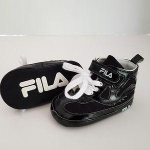 Fila 9-12M Soft Sole Black Sneakers
